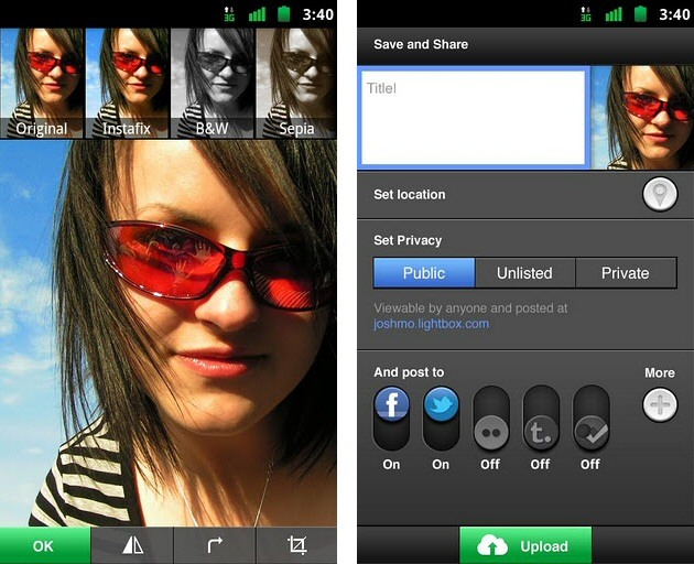 Lightbox Photos Android App