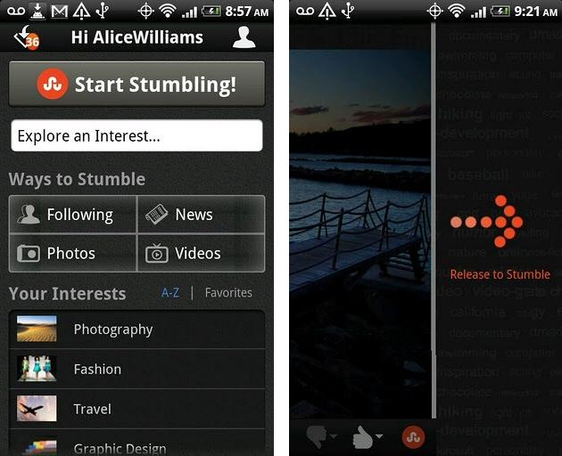 Stumbleupon Android App